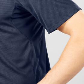 Salomon Agile Graphic T-shirt Halve Rits Heren, blauw